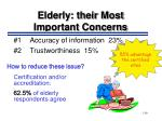 elderly their most important concerns