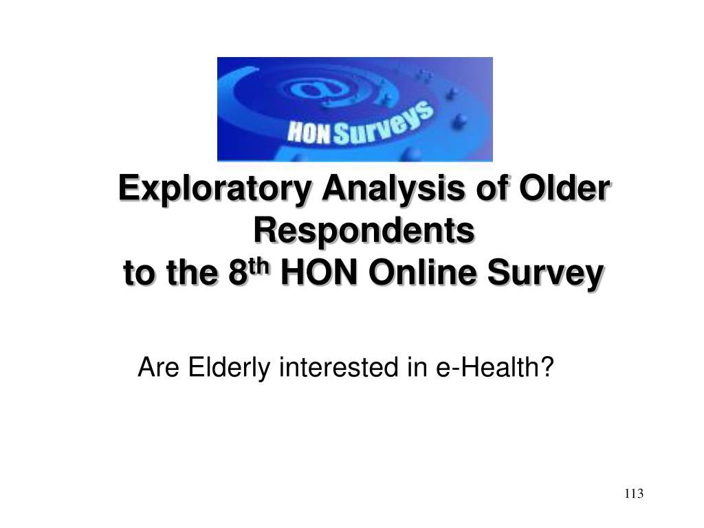 Exploratory Analysis of Older Respondents