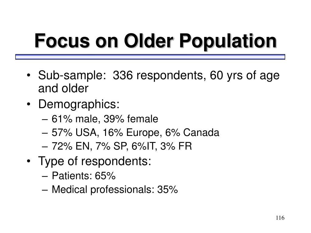 Focus on Older Population