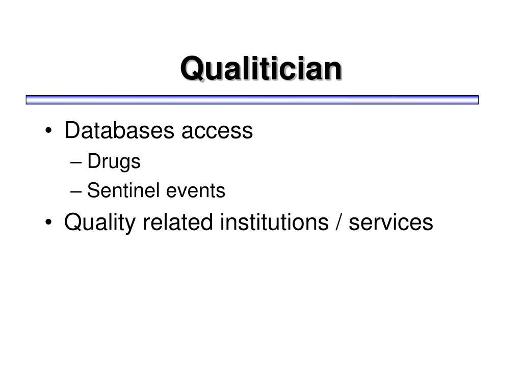 Qualitician