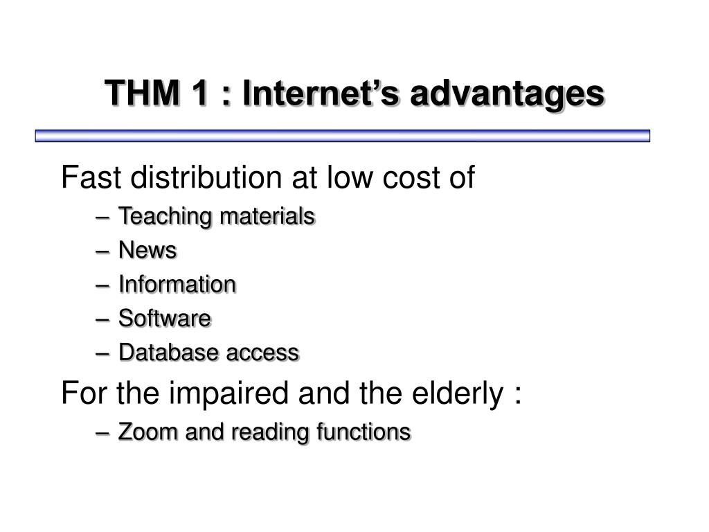THM 1 : Internet's