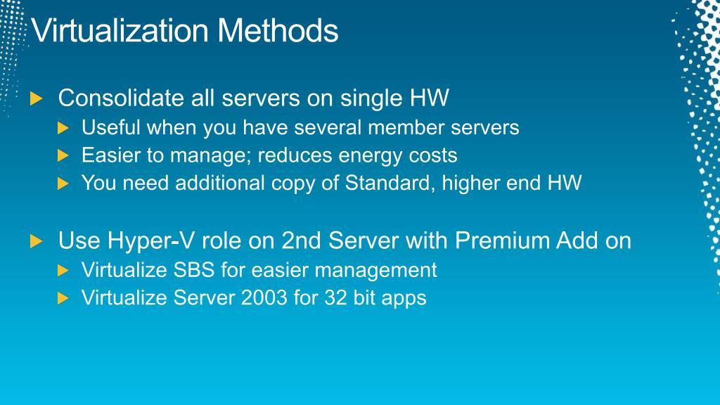 Virtualization Methods
