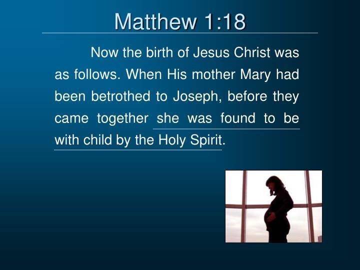 Matthew 1:18