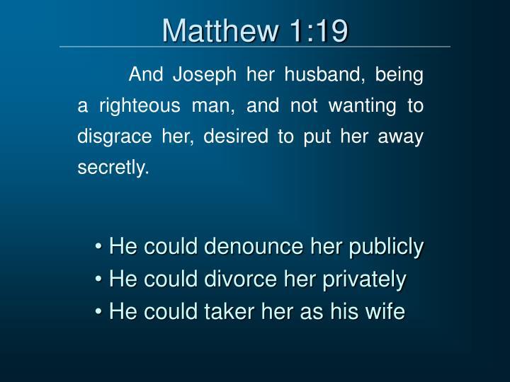 Matthew 1:19