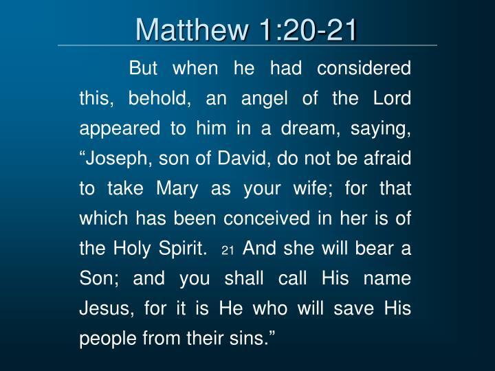 Matthew 1:20-21