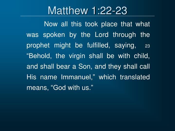 Matthew 1:22-23
