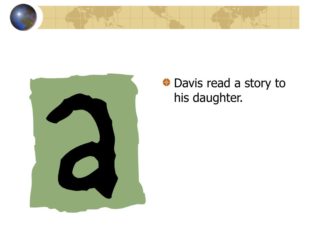 Davis read a story to his daughter.
