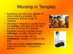 worship in temples