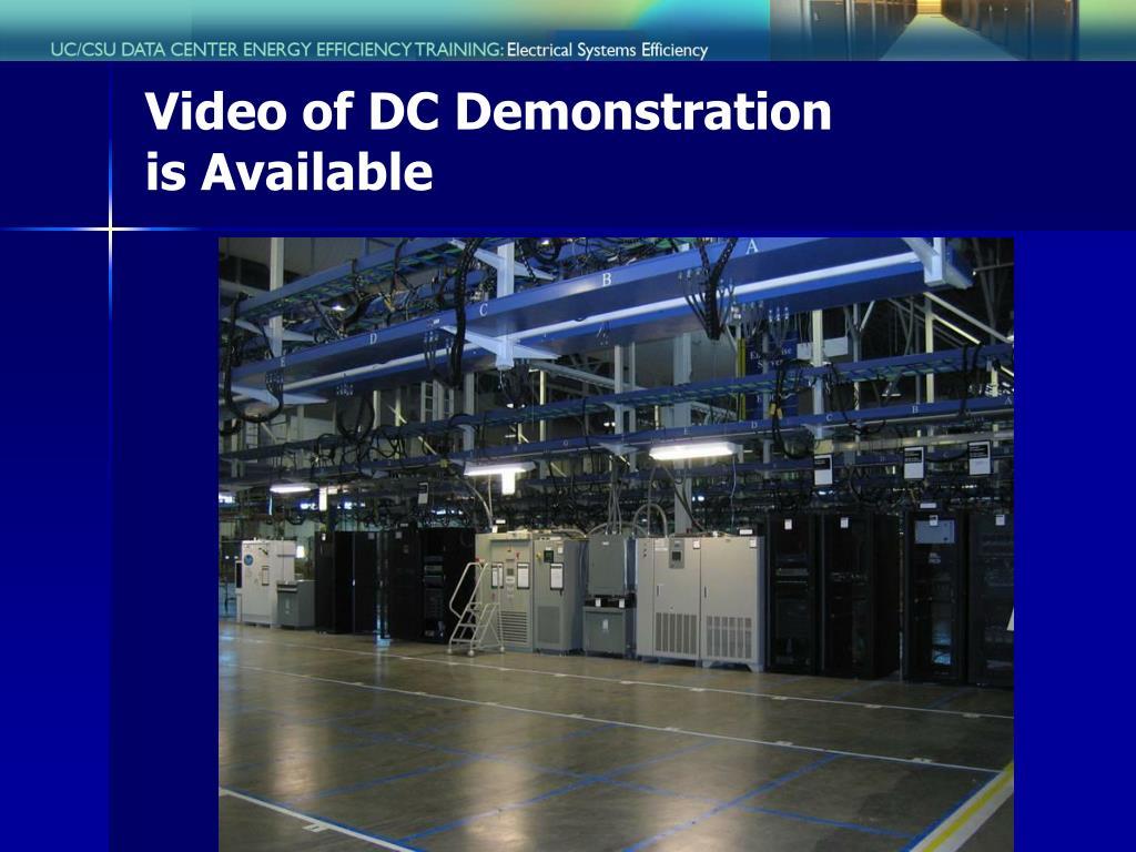 Video of DC Demonstration