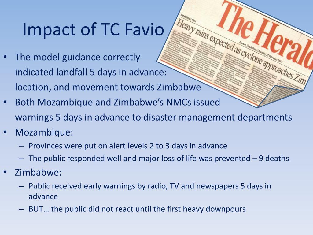 Impact of TC Favio