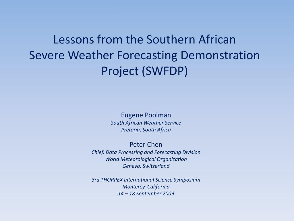 Lessons from the Southern African