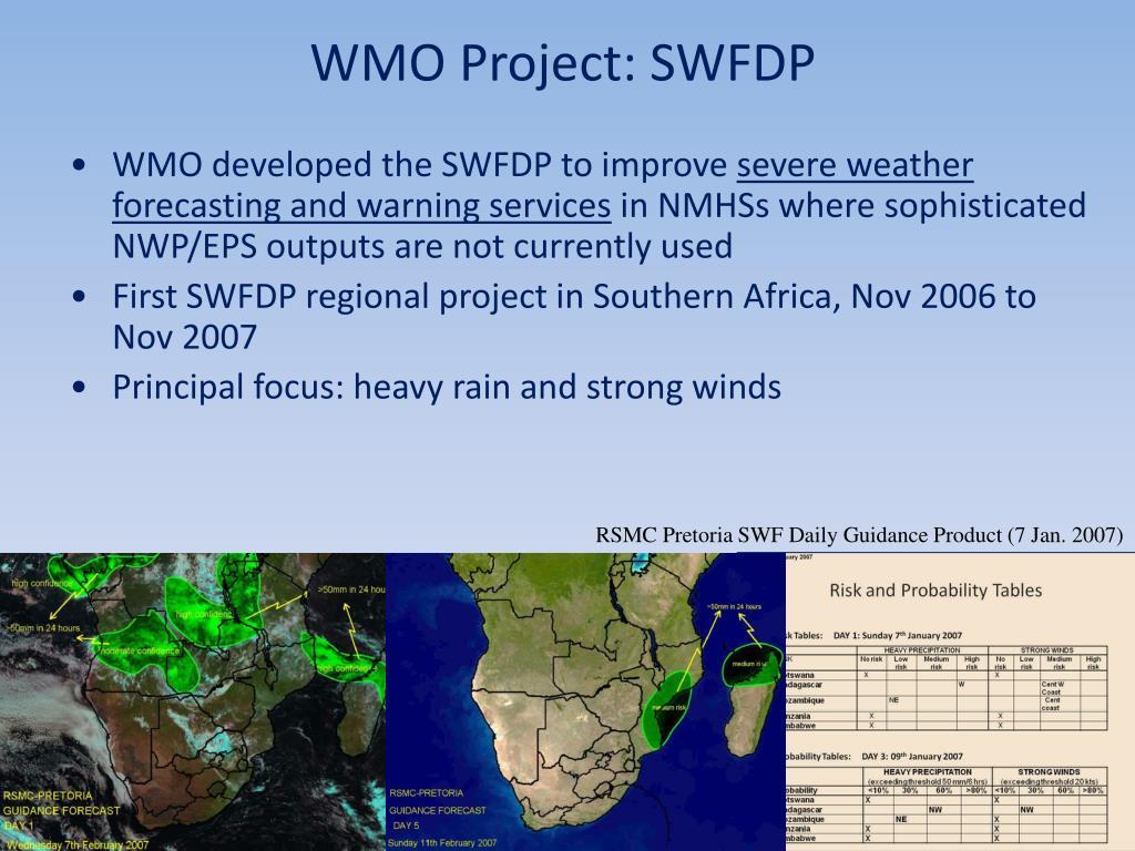 WMO Project: SWFDP