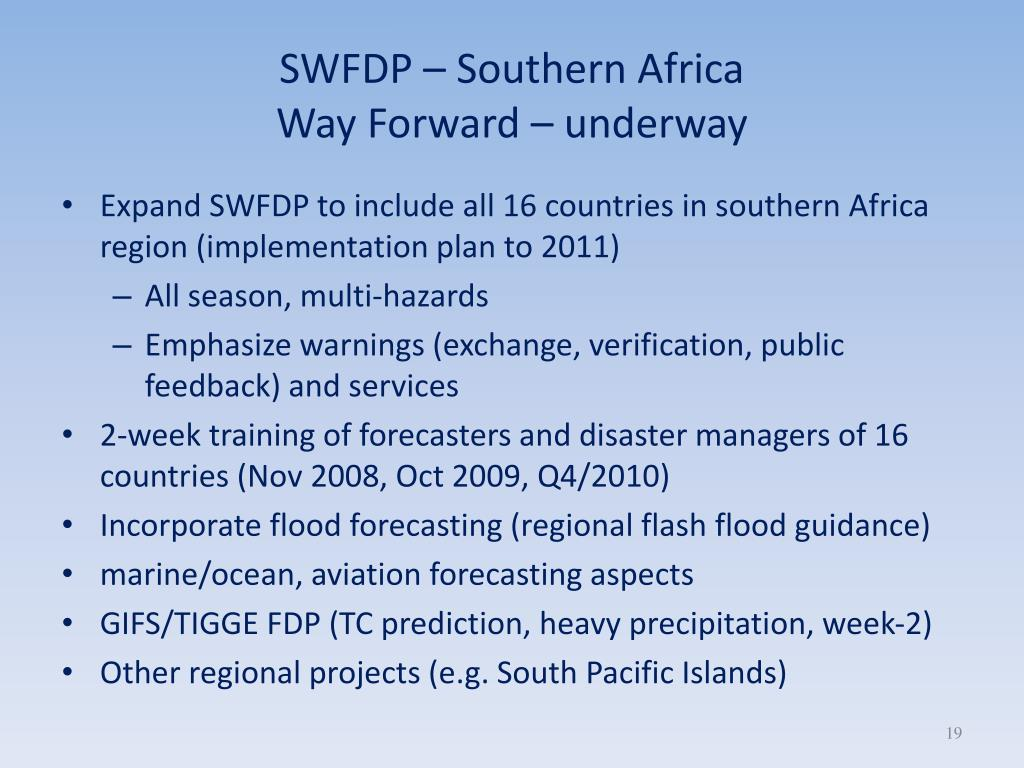 SWFDP – Southern Africa