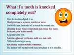 what if a tooth is knocked completely out
