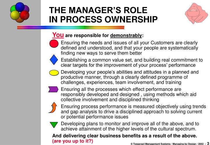 The manager s role in process ownership