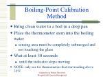 boiling point calibration method
