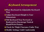 keyboard arrangement