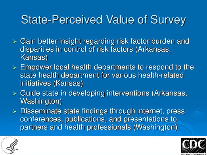 State-Perceived Value of Survey