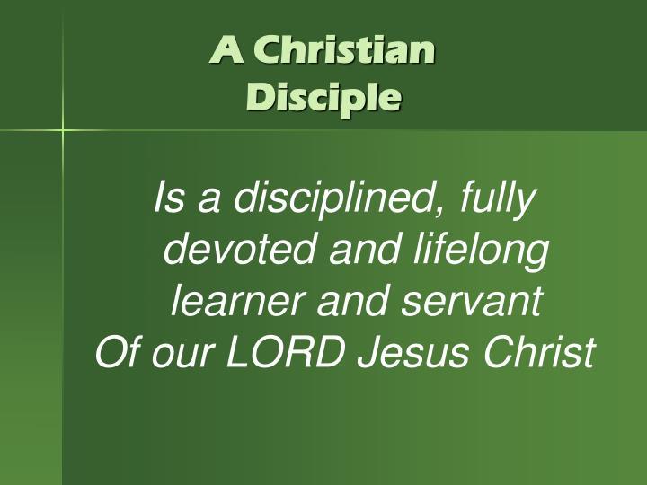 A christian disciple