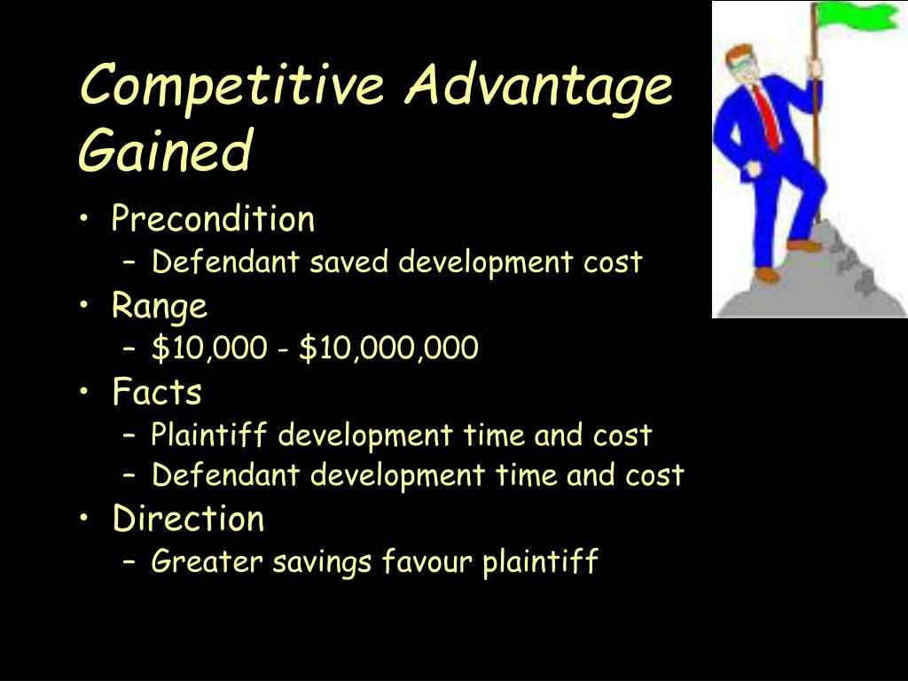Competitive Advantage Gained