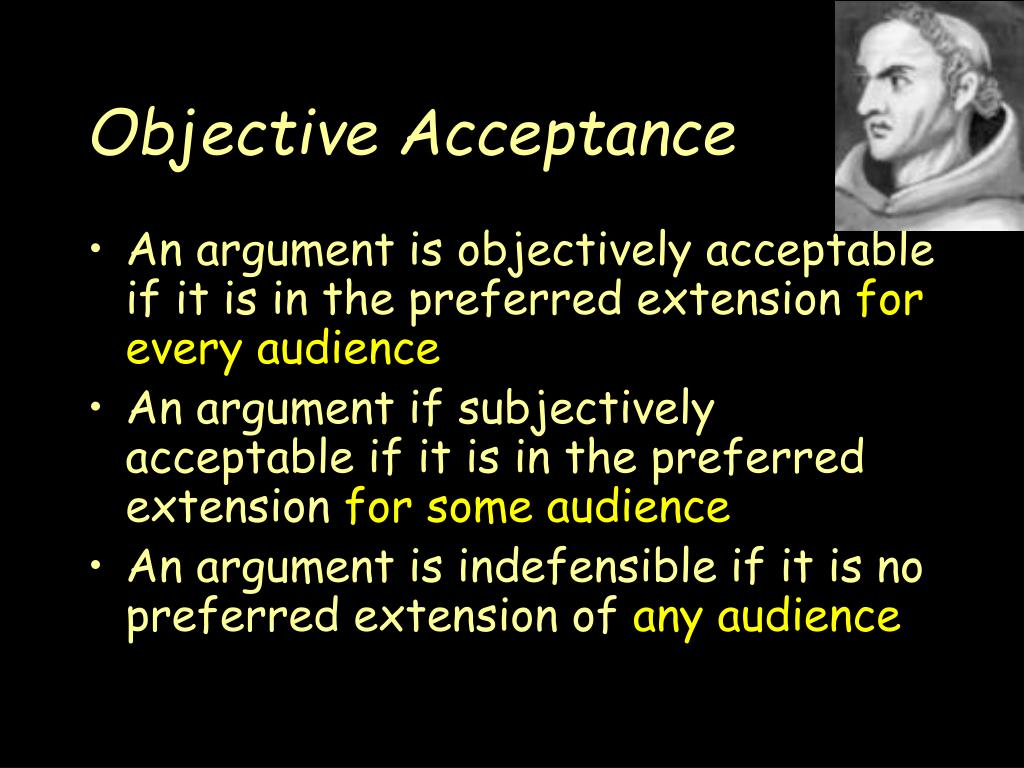 Objective Acceptance
