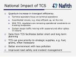 national impact of tcs