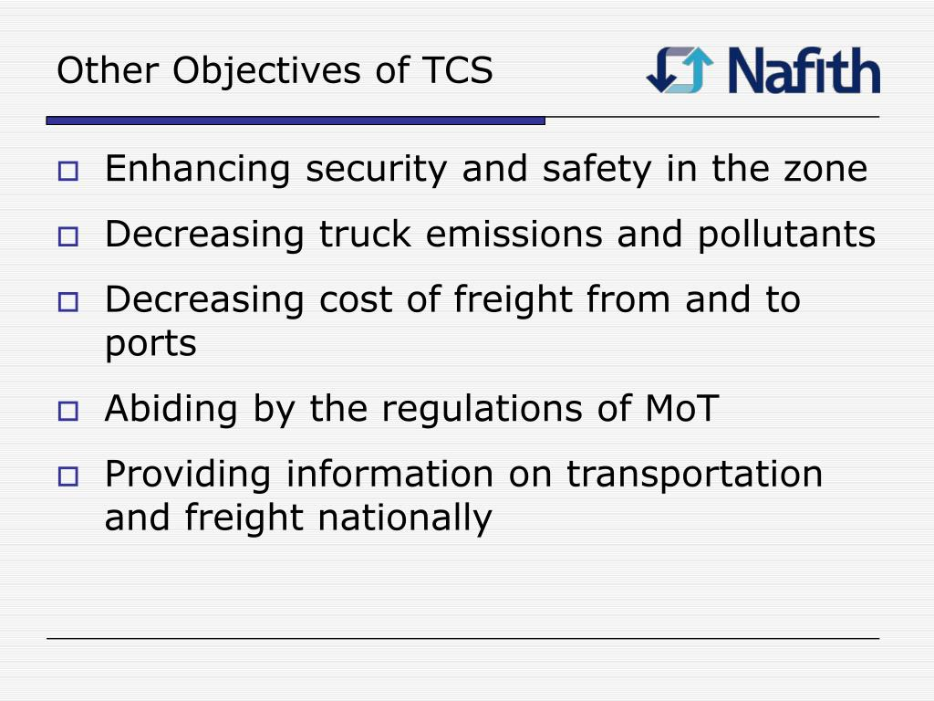 Other Objectives of TCS