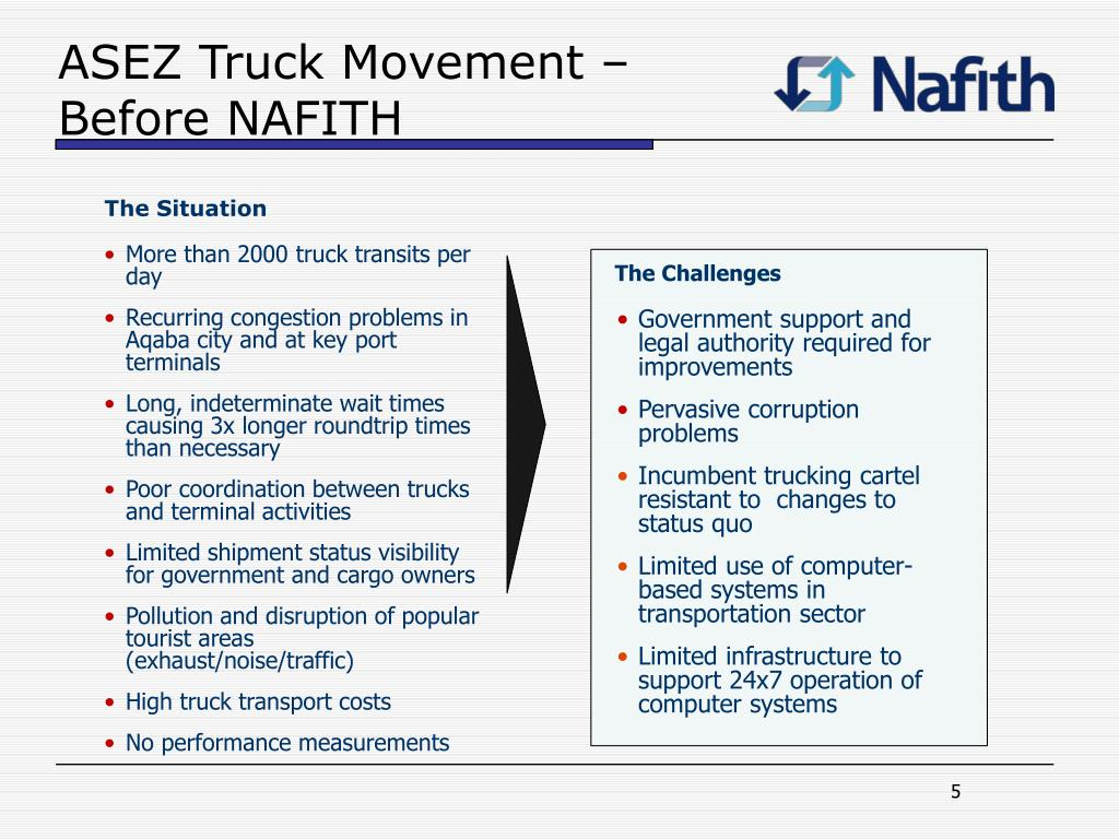 ASEZ Truck Movement – Before NAFITH