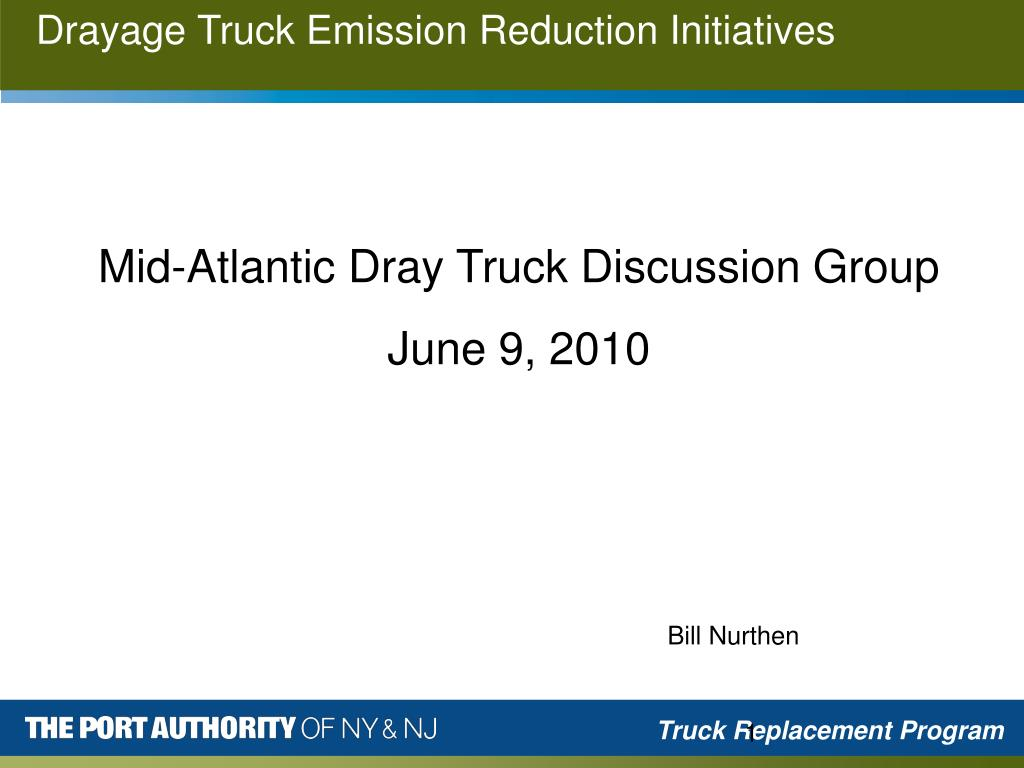 drayage truck emission reduction initiatives l.