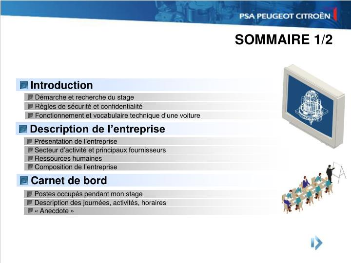 Sommaire 1 2