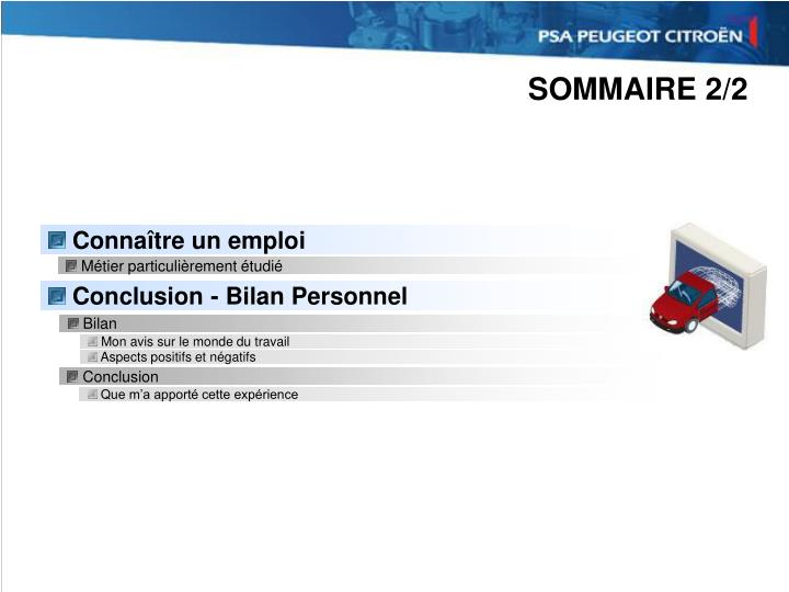 SOMMAIRE 2/2