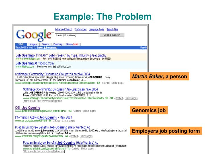 Example the problem