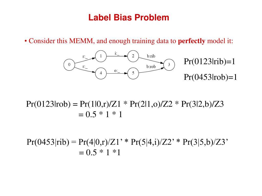 Label Bias Problem
