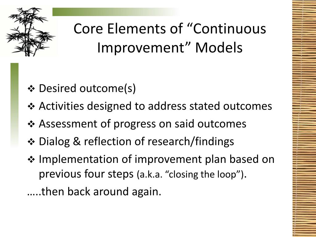 "Core Elements of ""Continuous Improvement"" Models"