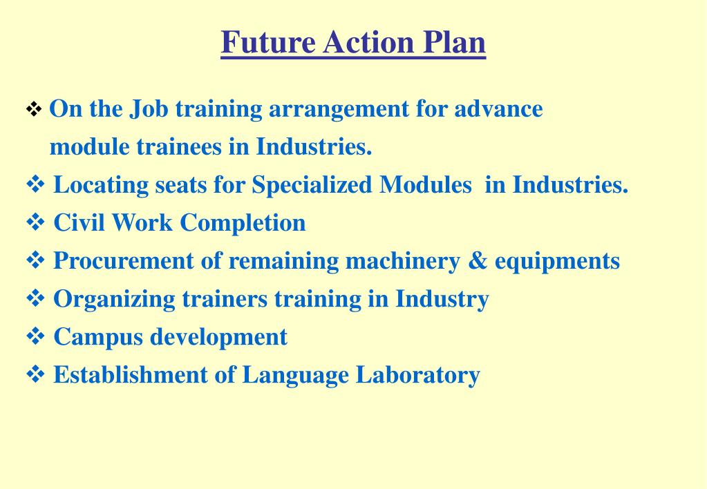 Future Action Plan