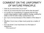 comment on the uniformity of nature principle