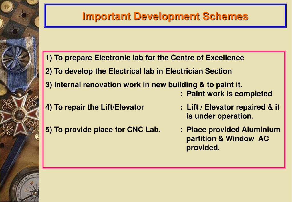 Important Development Schemes