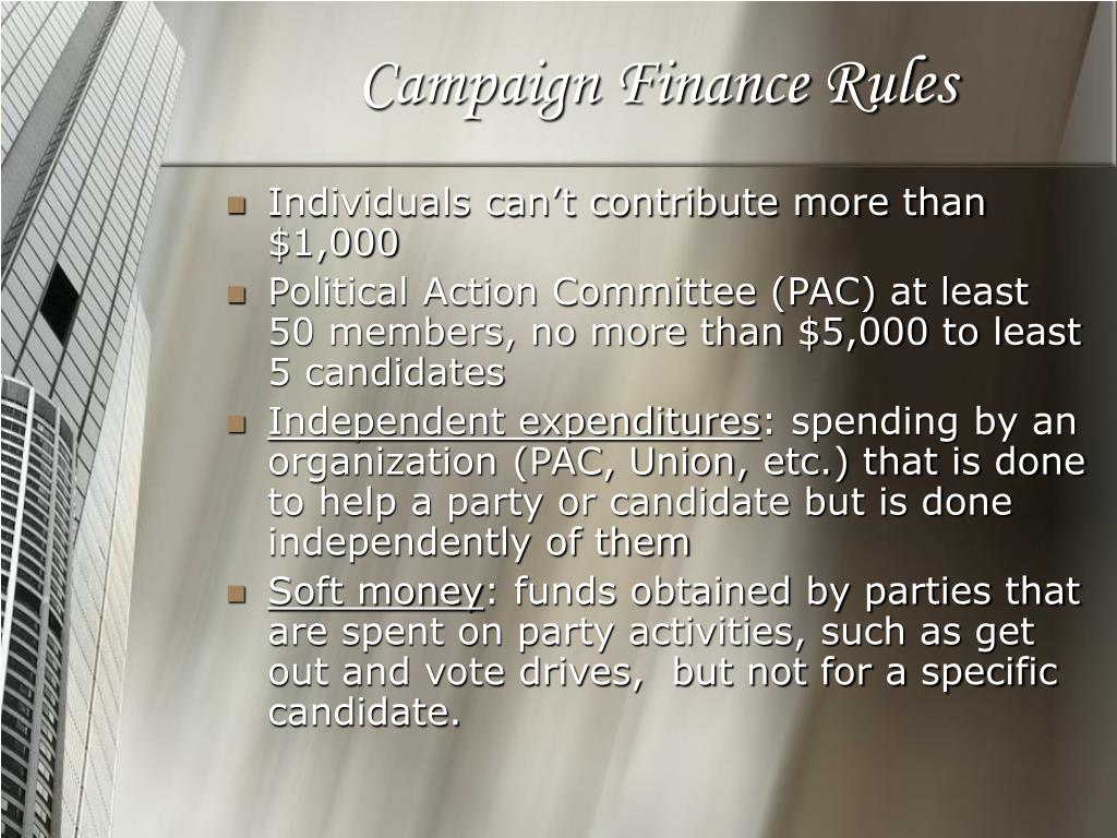 Campaign Finance Rules