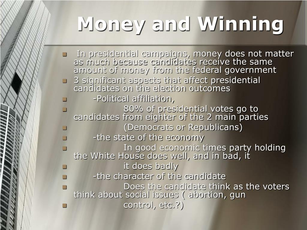 Money and Winning