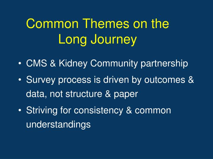 Common Themes on the