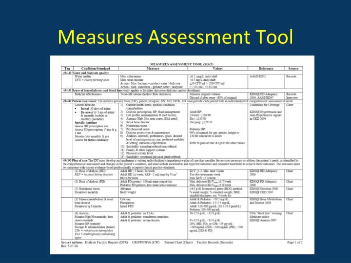 Measures Assessment Tool