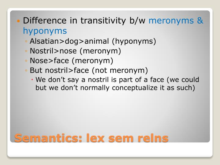 Difference in transitivity b/w