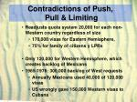 contradictions of push pull limiting22