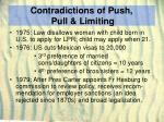 contradictions of push pull limiting23