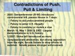 contradictions of push pull limiting27