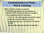 contradictions of push pull limiting30