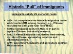historic pull of immigrants