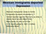 mexican immigrants deported depression