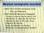 mexican immigrants recruited