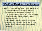 pull of mexican immigrants